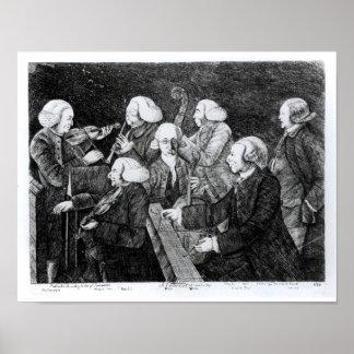 A Concert at Cambridge, 1770 Poster