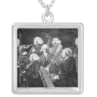 A Concert at Cambridge, 1770 Silver Plated Necklace