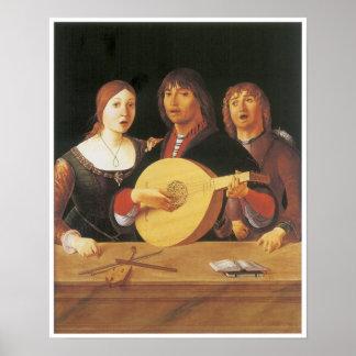 A Concert, c. 1485-95 Poster