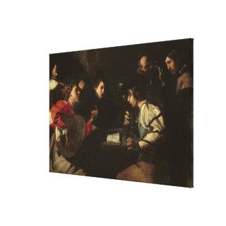 A Concert, c.1610-20 (oil on canvas) Canvas Print