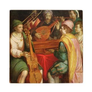 A Concert Wood Coaster