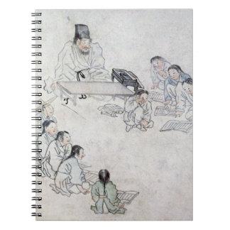 A Confucian Classroom (Sodang) (colour print) Notebook