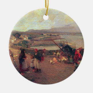A Connemara Village - The Way To The Harbour, 1898 Christmas Ornament