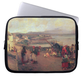 A Connemara Village - The Way To The Harbour, 1898 Laptop Sleeve