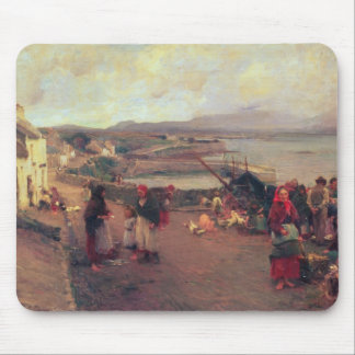 A Connemara Village - The Way To The Harbour, 1898 Mouse Mat