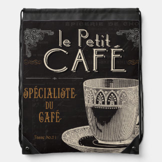 A Contemporary Cup of Coffee Drawstring Bag