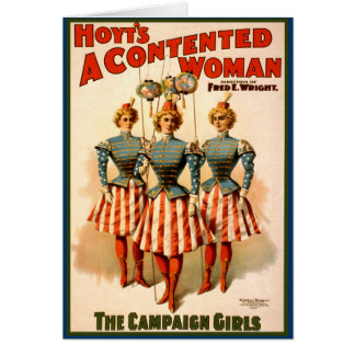 A Contented Woman Campaign Girls Greeting Card