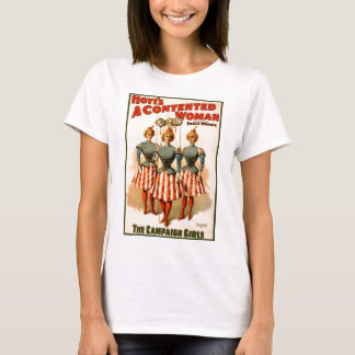 A Contented Woman Campaign Girls T-Shirt