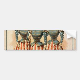 A Contented Woman The Campaign Girls Retro Thea Bumper Sticker
