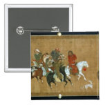 A convoy of Mongols, Chinese, 14th century 15 Cm Square Badge