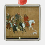 A convoy of Mongols, Chinese, 14th century Christmas Ornament