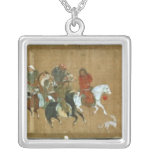 A convoy of Mongols, Chinese, 14th century Square Pendant Necklace
