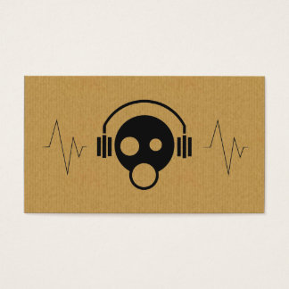 A cool cardboard DJ icon business card