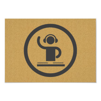 A cool cardboard DJ icon party logo Card
