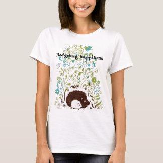 a cool hedgehog print, Hedgehog happiness T-Shirt