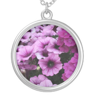 A Cool Shade of Purple Round Pendant Necklace