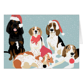 A Coonhound Holiday (Blank inside) Card