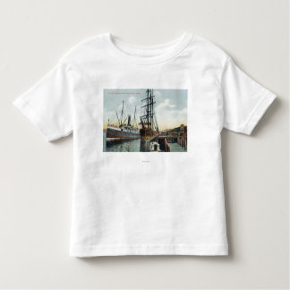 A Coos Bay Shipping Scene at Dock Toddler T-Shirt
