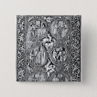 A copy of  ivory back Queen Melisende's Psalter 15 Cm Square Badge