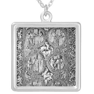 A copy of  ivory back Queen Melisende's Psalter Silver Plated Necklace