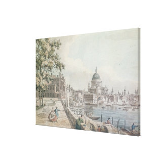 A copy of part of a drawing by Canaletto, of St. P Canvas Print