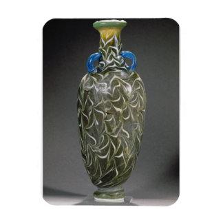 A core-formed amphora with wave motifs, 19th-20th rectangular photo magnet