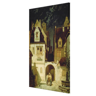 A Corner of a German Town by Moonlight Canvas Print