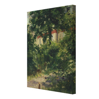 A Corner of the Garden in Rueil, 1882 Gallery Wrap Canvas