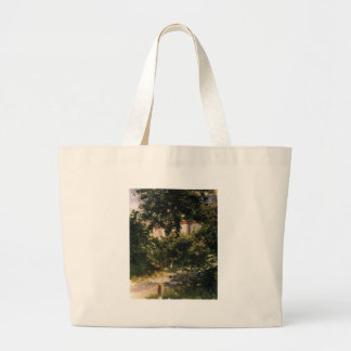 A Corner of the Garden in Rueil by Edouard Manet Jumbo Tote Bag