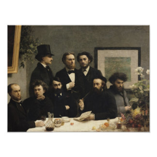 A Corner of the Table, 1872 Poster