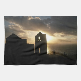 A Cornish Sunset Wheal Coates Kitchen Towel