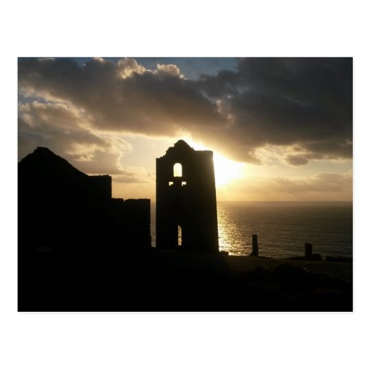 A Cornish Sunset Wheal Coates Postcard