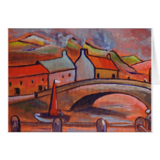 A CORNWALL VILLAGE GREETING CARD