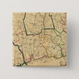 A Correct Map of Connecticut 15 Cm Square Badge
