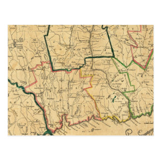 A Correct Map of Connecticut Postcard