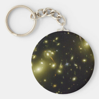 A Cosmic Magnifying Glass Basic Round Button Key Ring