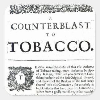 A Counterblast to Tobacco Square Sticker