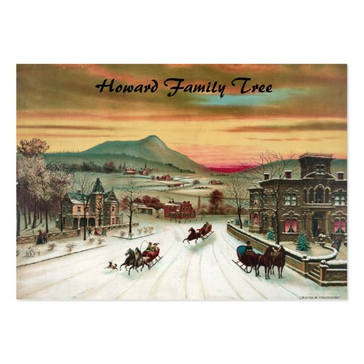 A Country Christmas Scene Large Business Cards (Pack Of 100)