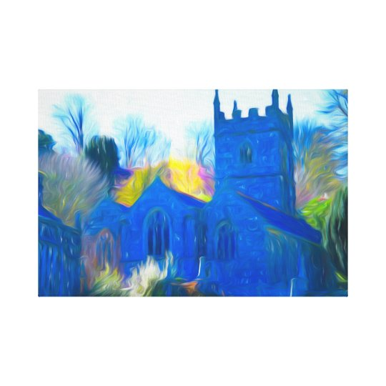 A COUNTRY CHURCH IN MODERN ART WRAPPED CANVAS