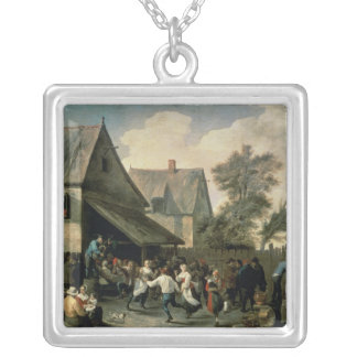 A Country Dance Silver Plated Necklace