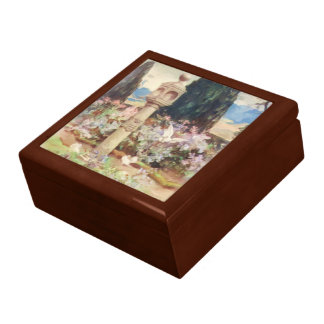 A country Scottish Garden Large Square Gift Box