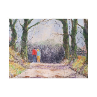 A country stroll canvas print