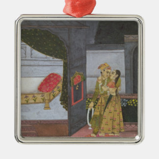 A Couple, illustration from the 'Malavi Ragini' Christmas Ornament