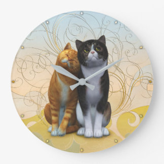 A couple of cats: love is in the air ? clocks