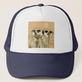 A couple of meerkats trucker hat