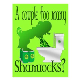 A couple too many Shamrocks Seamus ? Postcard