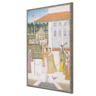 A Couple Walking Canvas Print