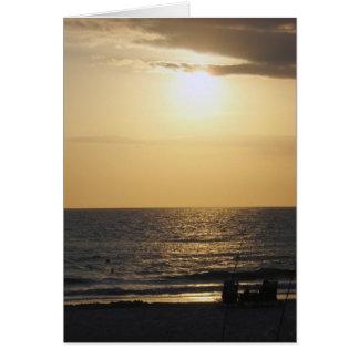A Couple's Beach Sunset Card
