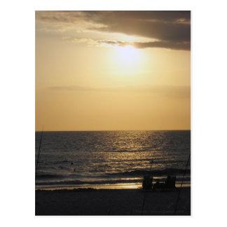A Couple's Beach Sunset Postcard