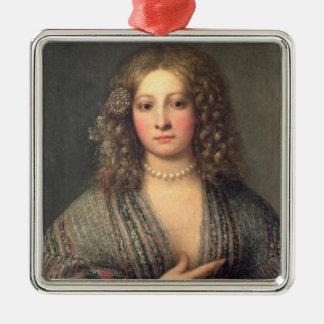 A Courtesan (oil on canvas) Christmas Ornament